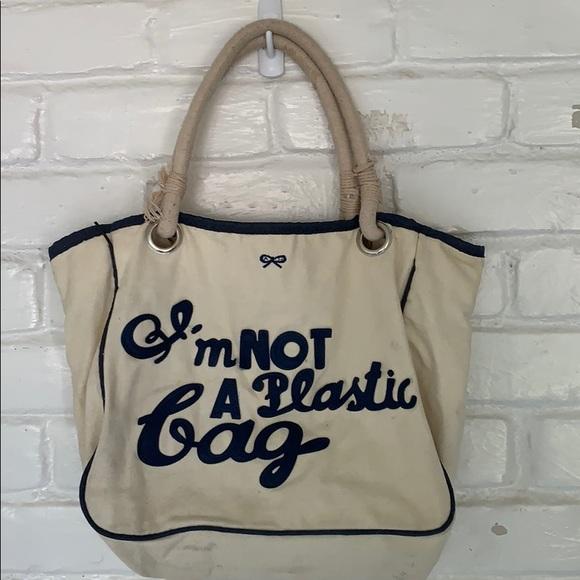 """Anya Hindmarch Handbags - Anya Hindmarch """"I'm not a plastic bag"""" Tote"""